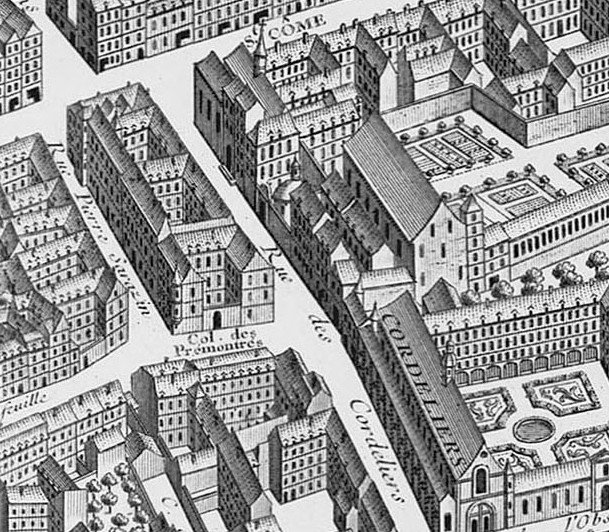 plan Turgot rue cordeliers